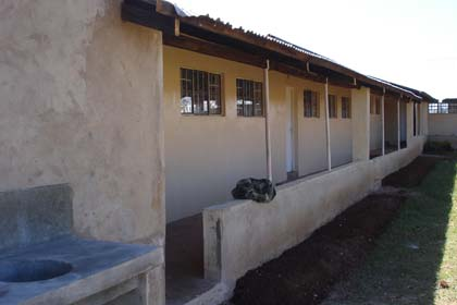the kitchen and classroom exterior